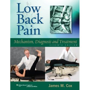 7th edition Low Back Pain textbook by Dr. James Cox