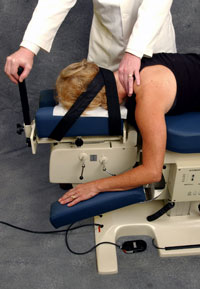 Cox Table occipital restraint
