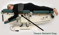 cox table thoracic strap
